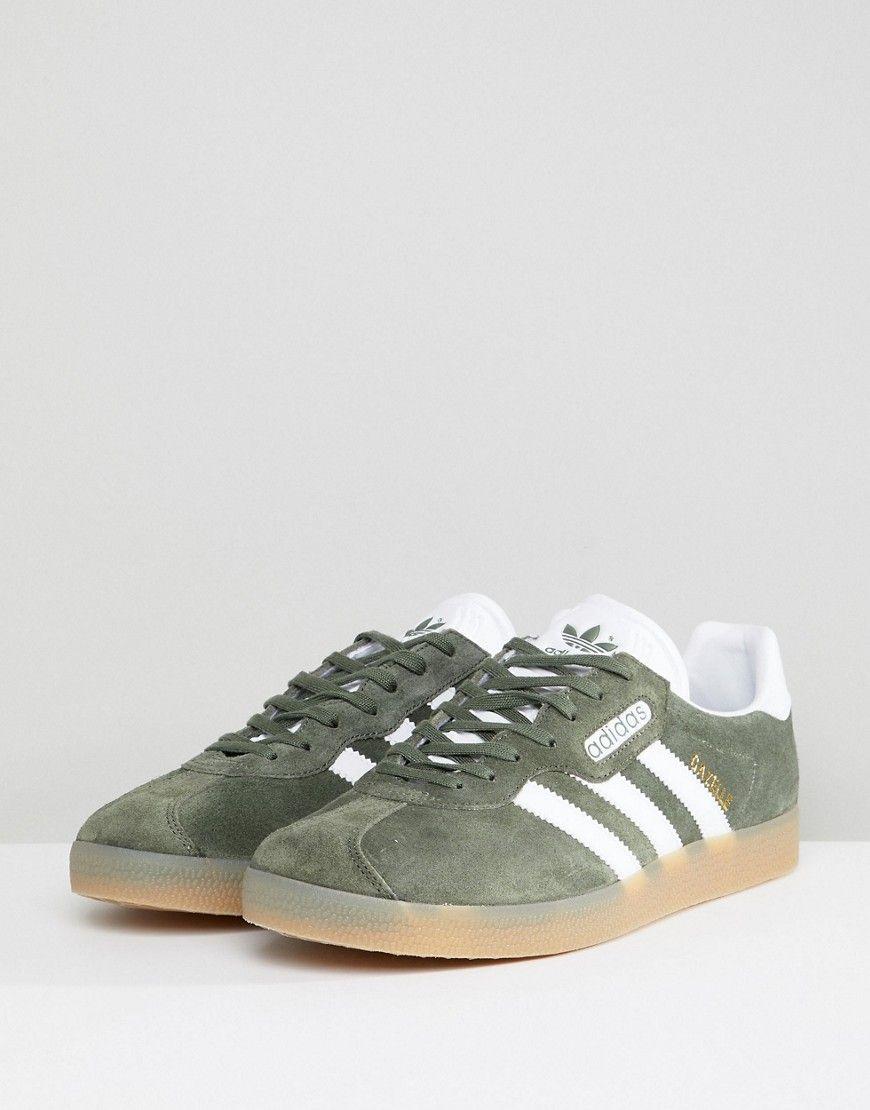 b705933924b6 adidas Originals Gazelle Super Sneakers In Green BY9778 - Green