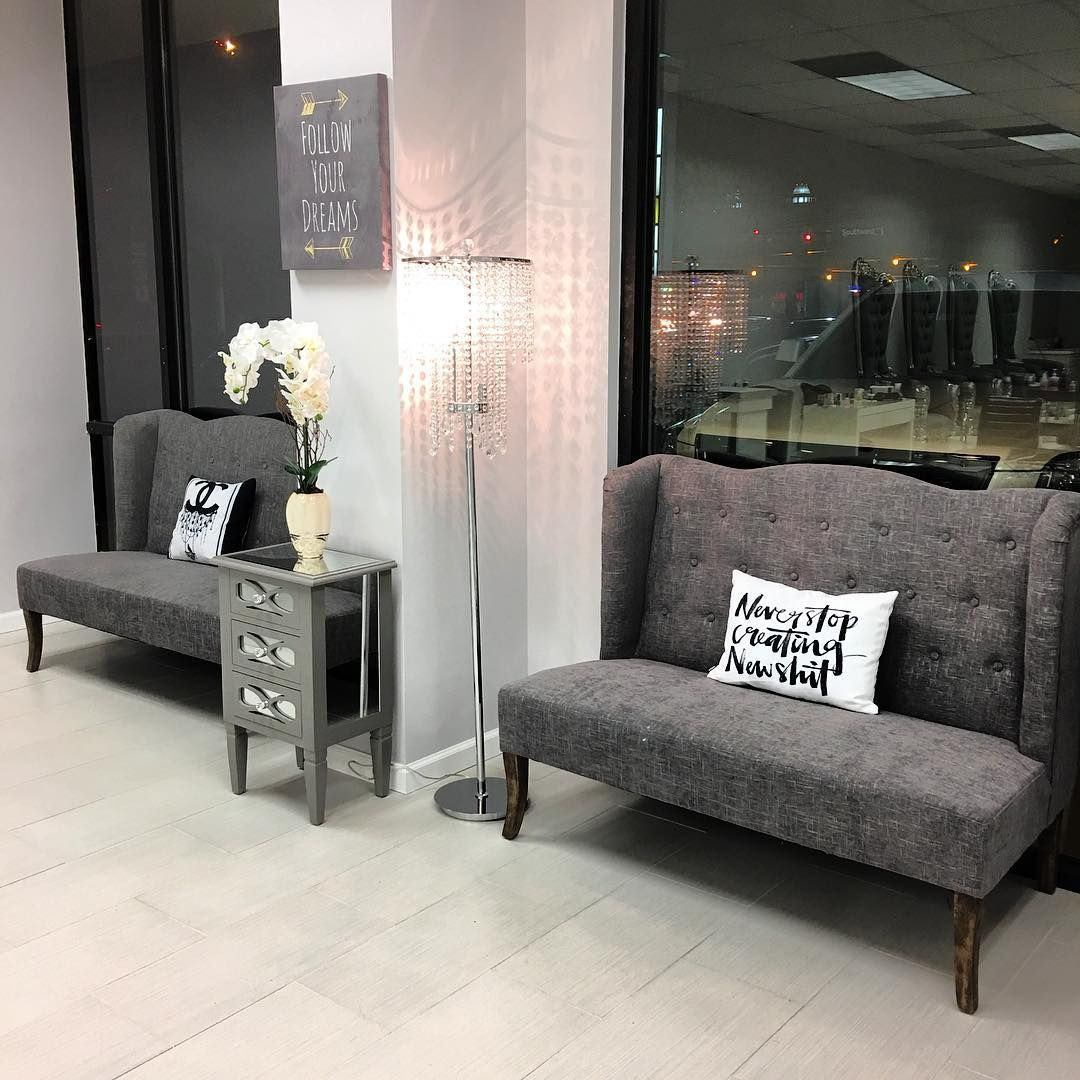Our Waiting Area Is Complete Thank You Society For These Amazing - Waiting chairs for salon