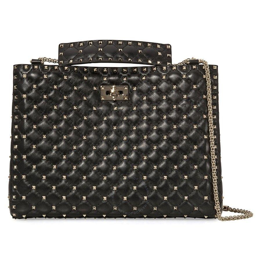 64731195dd9 Shop for Rockstud Quilted Leather Shoulder Bag- Black by Valentino at  JOMASHOP for only $2,279.99