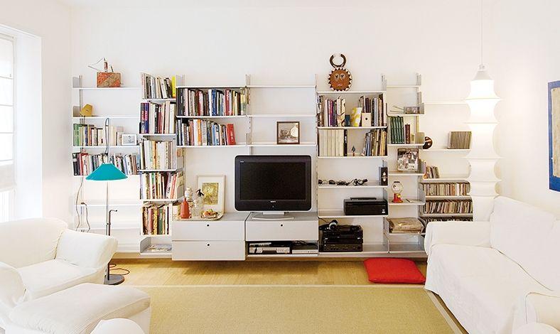 Regalwand wohnzimmer ~ Billig regalwand mit schreibtisch deutsche deko