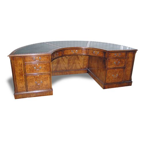 Ordinaire Half Round Executive Desk: Seating Side