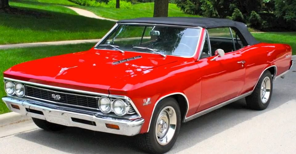1967 Chevelle Convertible With A Fire Engine Red Paint Scheme An The Original