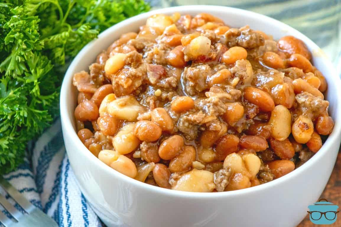 The Best Calico Baked Beans Recipe Baked Beans Calico Baked Beans Bean Recipes