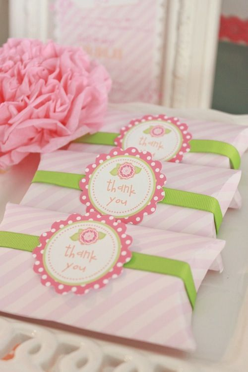 Baby Shower Thank You Gift Boxes : A baby shower happy hour favors pillow box and etsy