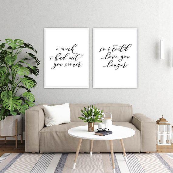 Home Decor Gifts Master Bedroom Art Minimalist Printable Digital Prints