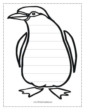 penguin writing template writing template free to download and