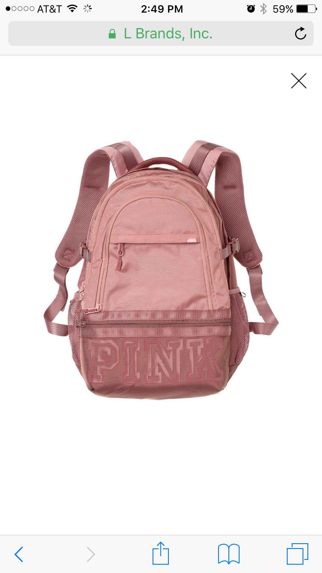 304dffe4b0ee1 Victorias Secret Pink Collegiate Backpack Black Marl Limited Edition ...