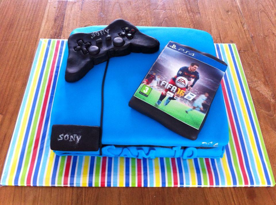 playstation taart PlayStation 4 taart   Ⓜ   Taarten   Pinterest playstation taart