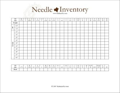 Free pdf project pages - Knitting Journal, etc Knit - sample oil filter cross reference chart