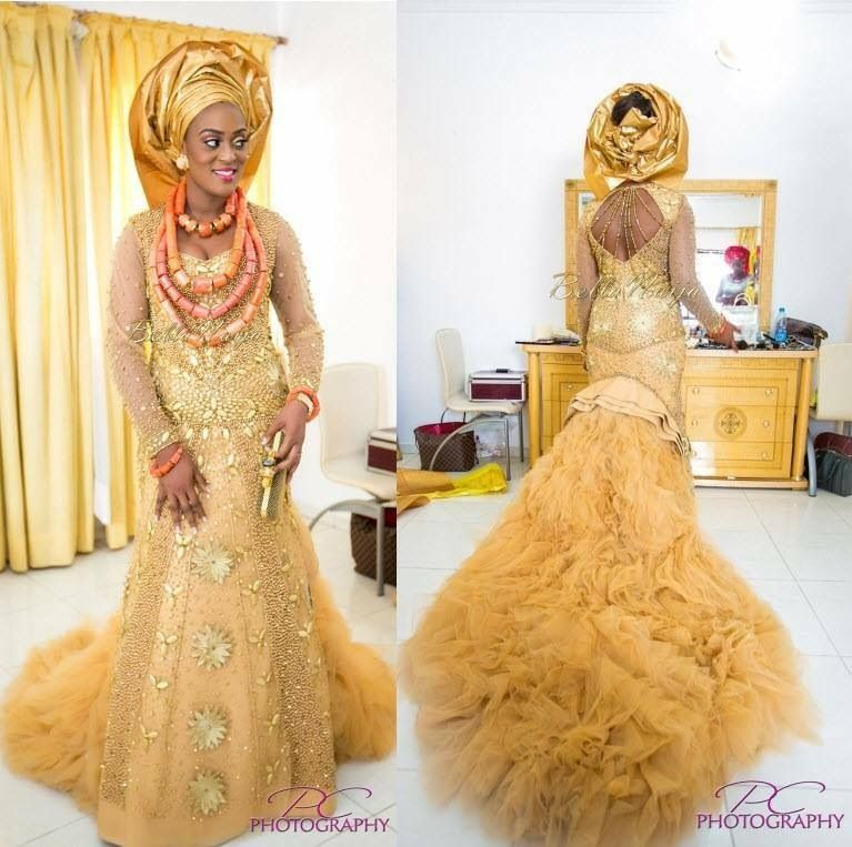Traditional Nigerian wedding gown. This is so beautiful and I love ...