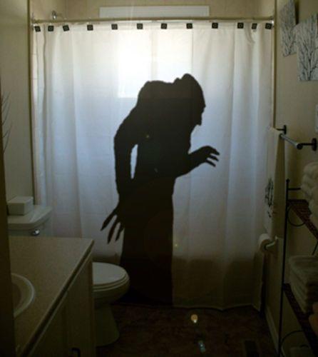 Bathroom Shower Curtain Horror Nosferatu A Symphony Of 1922 Scary