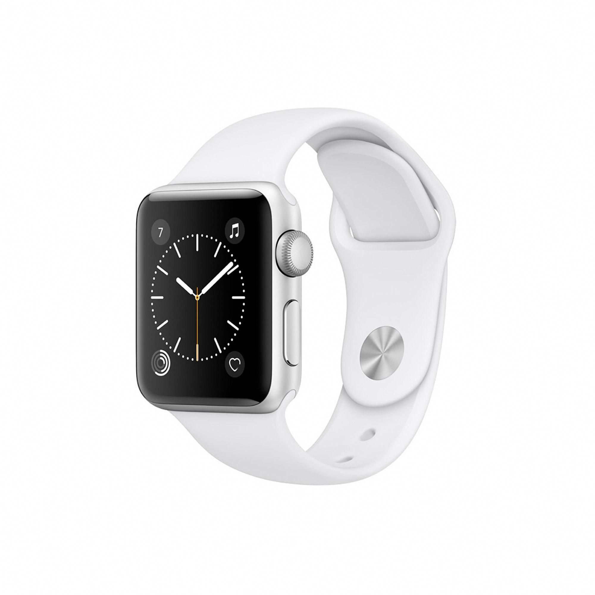 Apple Watch Series 2 (38mm Silver Tone Aluminum with White