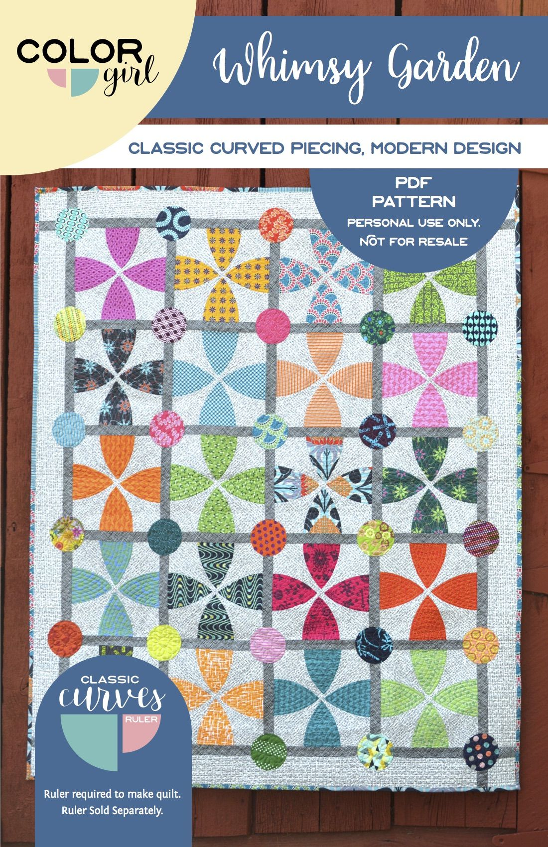 Whimsy Garden Quilt Pattern (With images)  Quilts, Quilt patterns