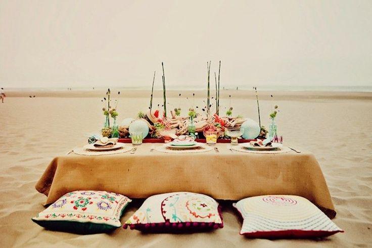 A Fun Wedding Table On The Beach