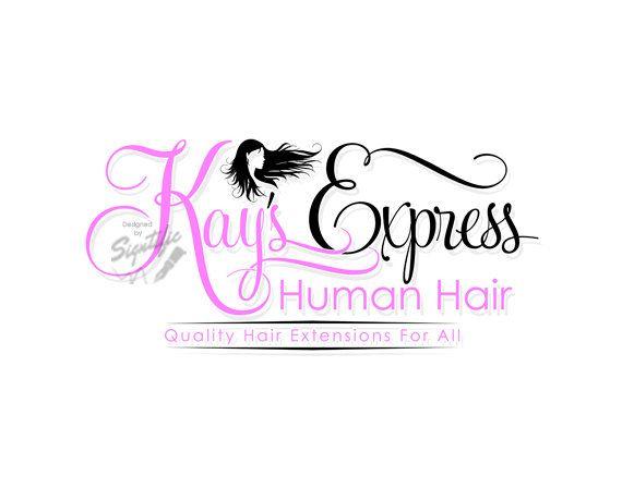 hair extension logo hair business brand hair branding