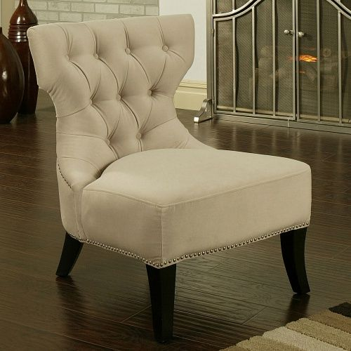 Best Sedona Light Cream Microfiber Suede Chair Accent Chairs 400 x 300