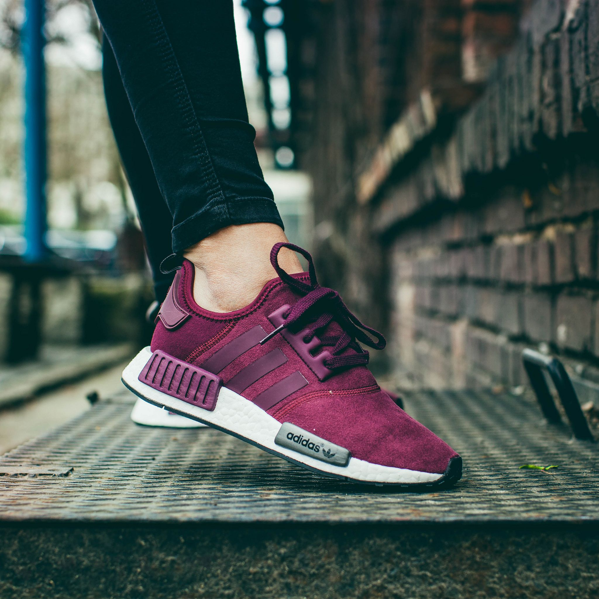 Adidas NMD R1 Purple Maroon Solid Grey   Shoes in 2019