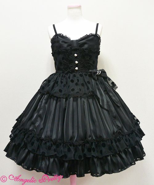 Angelic Pretty アクトレスジャンパースカート (Actress Jumperskirt) /// 27,864円 /// Length: 90cm Bust: 91~110cm Waist: 75~97cm
