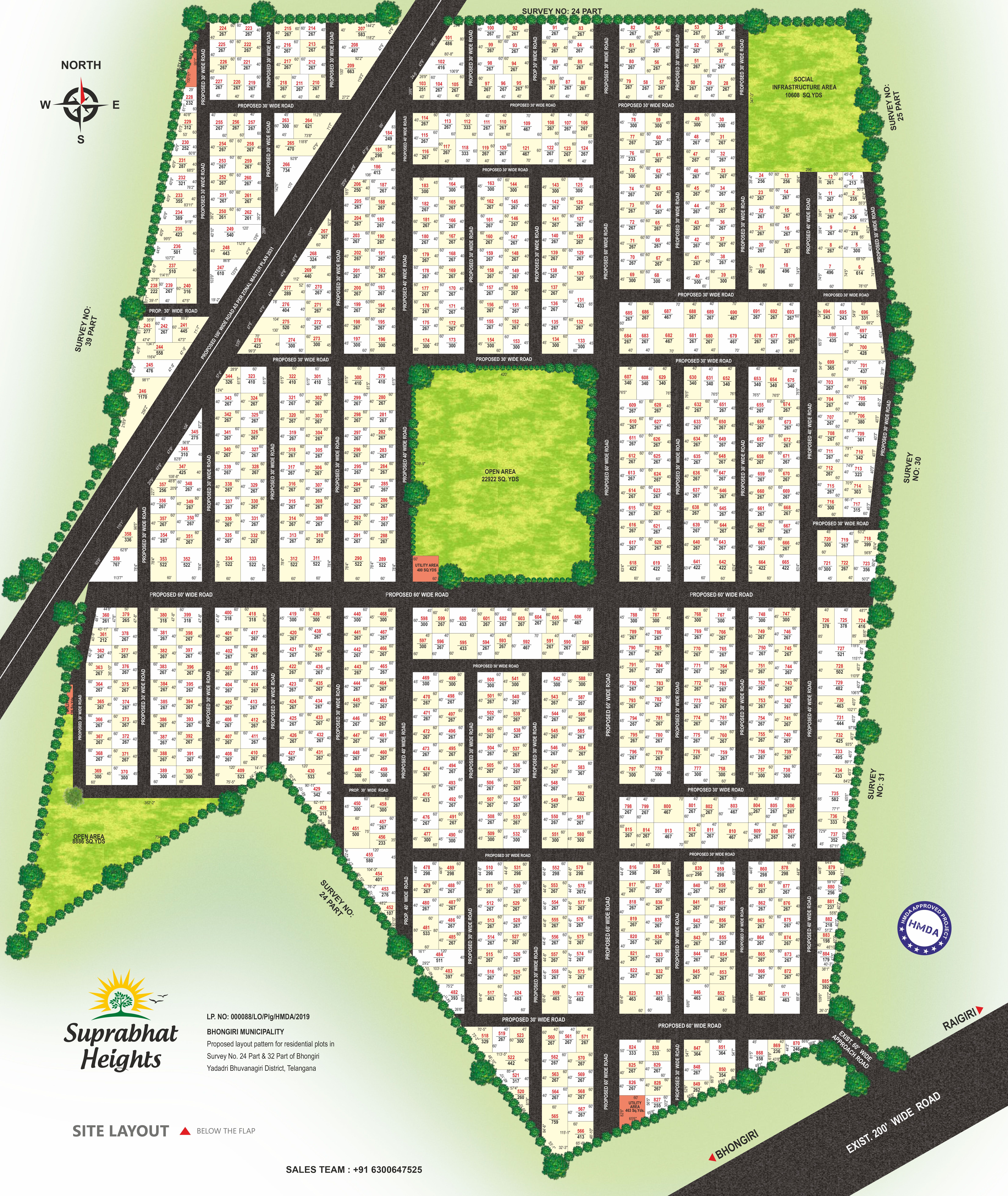 90 Acre HMDA Approved  Layout on Hyderabad  Warangal