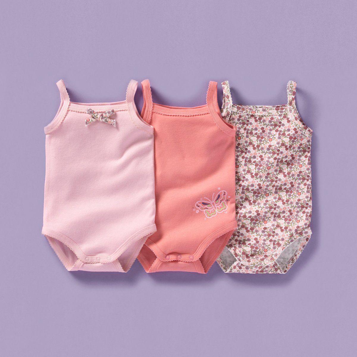 Body à bretelles bébé fille (lot de 3), Cocoon
