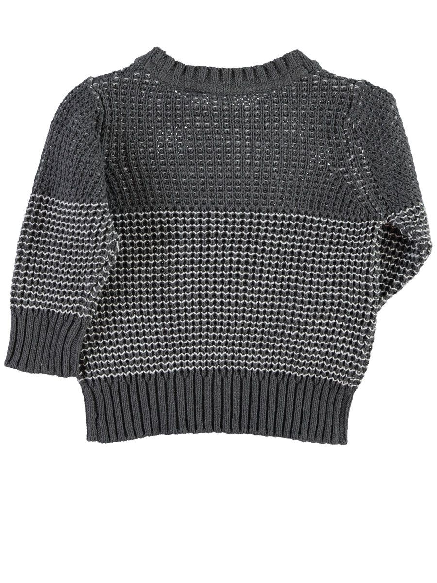 MINI NITVIELS KNITTED TOP, Dark Grey Melange
