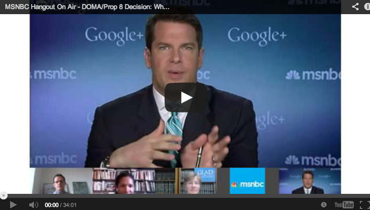 MSNBC's Marriage Equality Hangout on Air Live Now