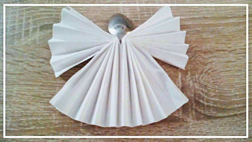 💘 Servietten falten Engel 👈 - Serviettenfalten Origami freude modern kinde...