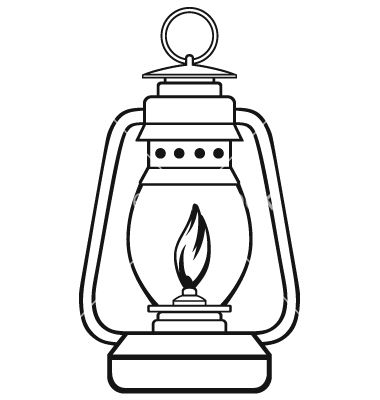 Old Dusty Oil Lamp Vector Image On Vectorstock Lantern Drawing Lamp Tattoo Oil Lamps