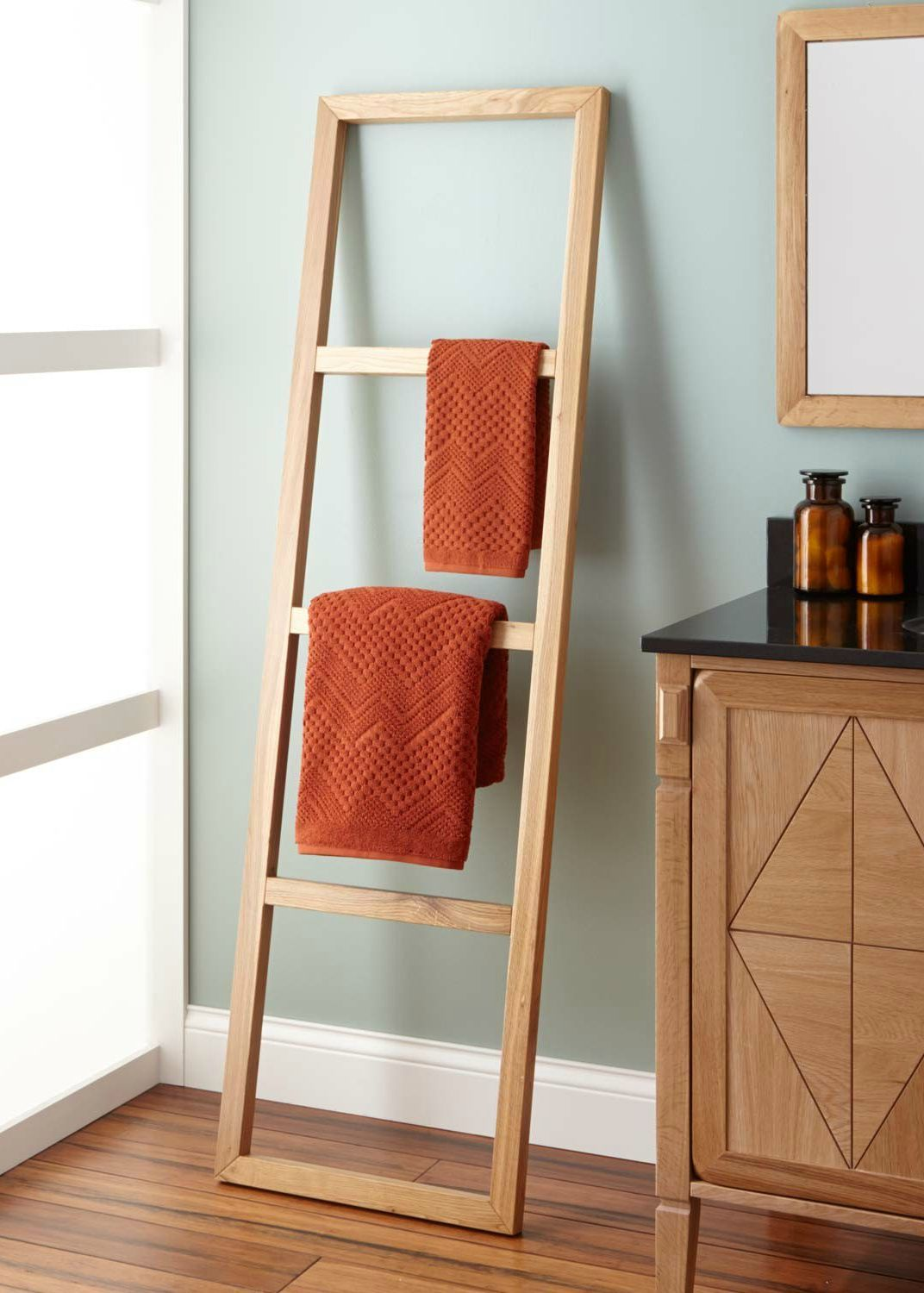 Stokes Teak Ladder Towel Rack Bathroom Ladder Towel Racks Towel Ladder Towel Rack Bathroom