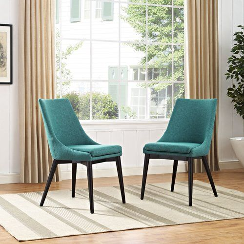Carlton Wood Leg Upholstered Dining Chair | Side chairs ...