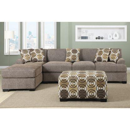Hollywood Decor Verona 3 pieces Faux Linen Sectional Sofa Set with Ottoman $748 (so cheap!)