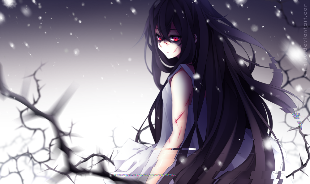 329880 1002x595 Riniuu Long Hair Single Wide Image Red Eyes Purple Hair Png 1002 595 Di 2020