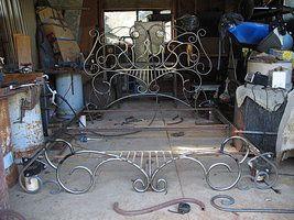 Art Nouveau Bed Frame retrofit by ou8nrtist2