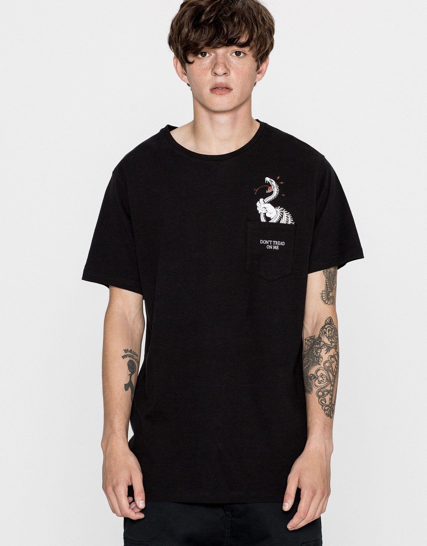 Camiseta print bolsillo serpiente - Camisetas - Ropa - Hombre - PULL&BEAR México