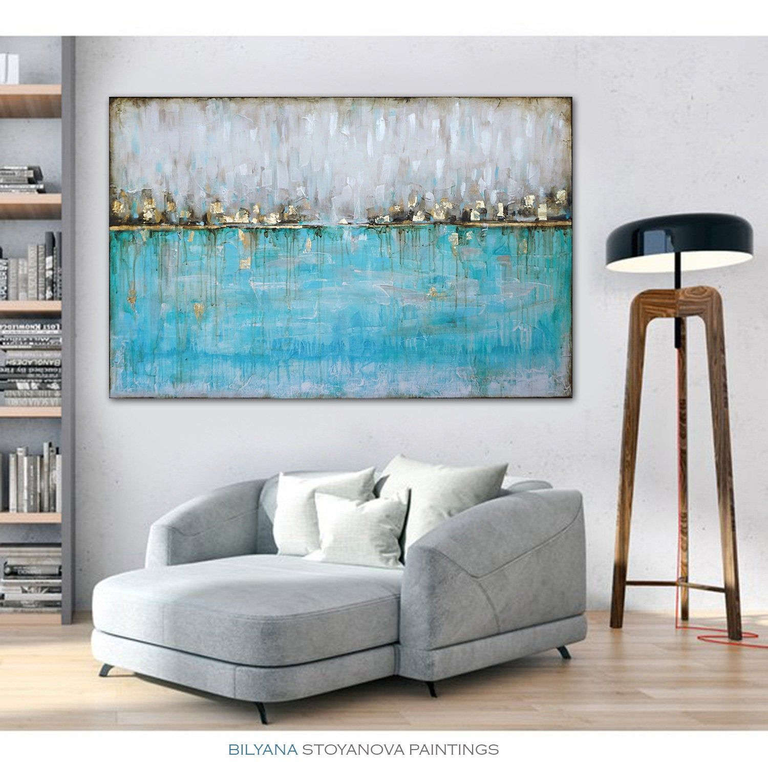 11 ORIGINAL One Of a Kind etsy shop Reflections 10, Large Teal and ...