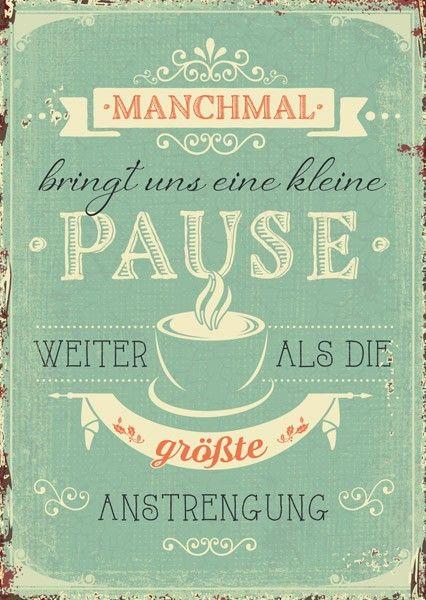 Postkarte   Eine Kleine Pause. Positive SprüchePostkarten SprücheVintage ...