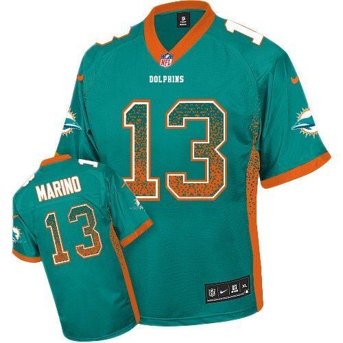 Nice Nike Limited Dan Marino Aqua Green Men's Jersey Miami Dolphins #13  supplier