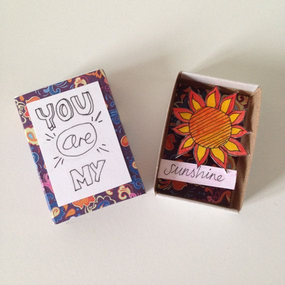 You Are My Sunshine Matchbox Art by lovepopsie on Etsy