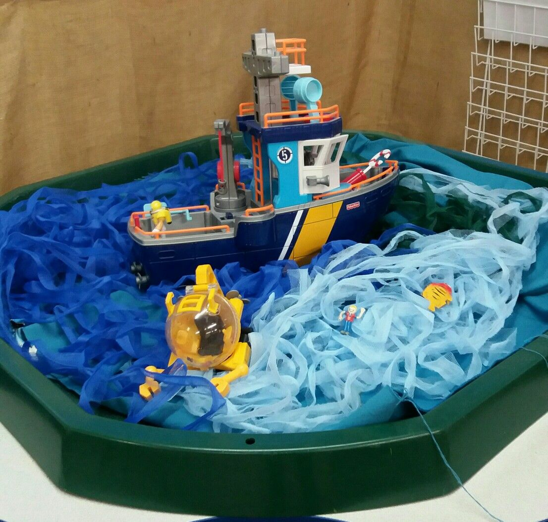 Deep Sea Diving Boat Tuff Tray Deep Sea Animals To Find
