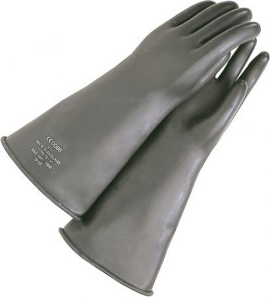 Dollhouse Miniatures 1:12 Scale Black Rubber Gloves #IM65606