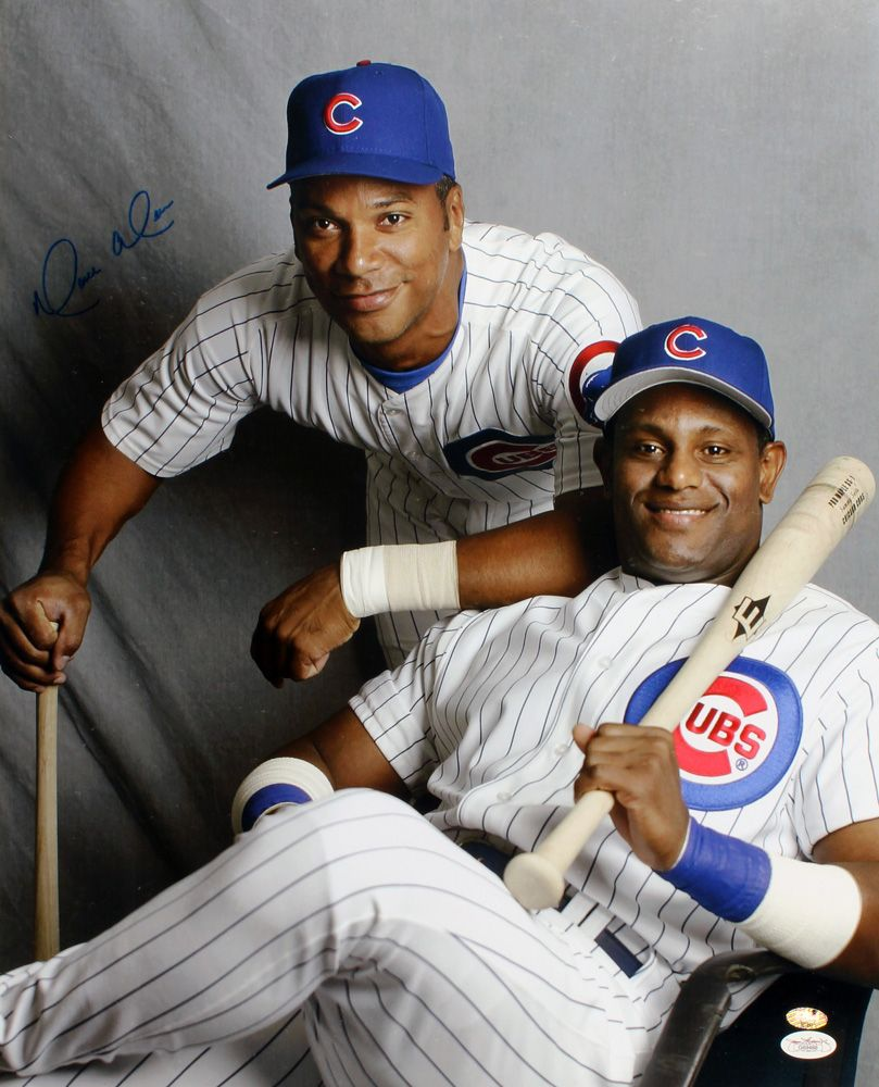 Moises Alou & Sammy Sosa Chicago Cubs