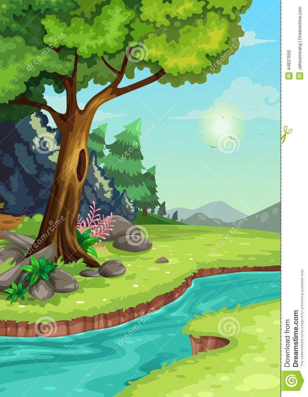 Imagen Relacionada Scenery Drawing For Kids Forest Drawing Kids Room Murals