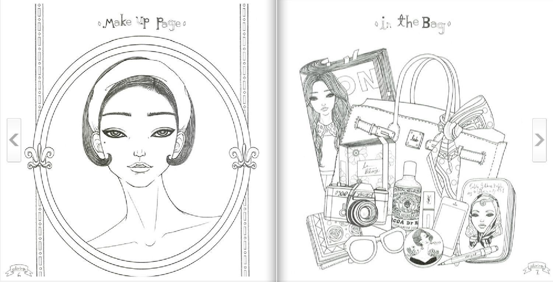 Urban Dream Girl Coloring Book For Adult Paper Doll Gift DIY Fun ...
