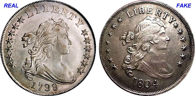 Coin Value Us Fake Silver Dollar Counterfeit 1799 To 1804 Coin Values Coins Silver Dollar