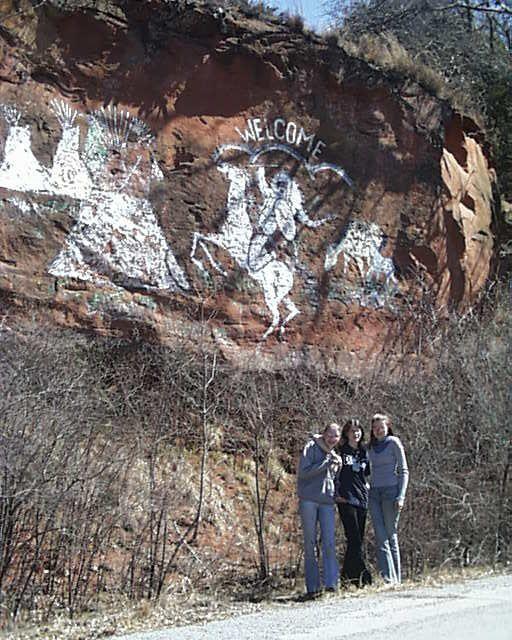 America Indian City Anadarko Oklahoma old dwelling Stock