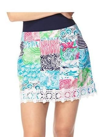 6508c0346a5530 Lilly Pulitzer Marigold Patchwork Skort in Multi Osterville Patch ...