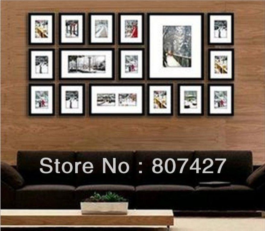 Decorar pasillo con composici n de marcos ikea pasillos - Ikea marcos cuadros ...