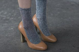 Warm socks can do the same for heels.   12 Ways To Wear Your Favorite Summer Clothes Year-Round