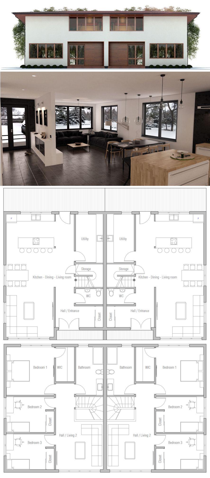 Doppelhaus hausbau pinterest grundrisse hausbau und for Zweifamilienhaus plan