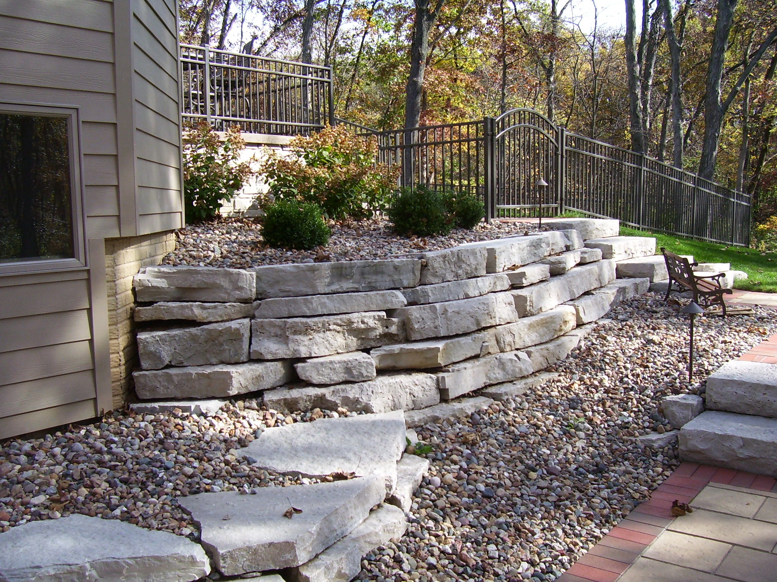 Outcropping Stone Wall